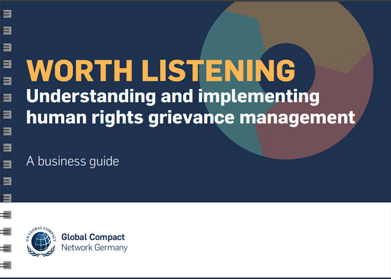 Guidance for grievance mechanisms